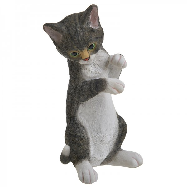 INART Διακοσμητική Γάτα 12X11X25 εκ Grey, White-Ivory ΚΩΔΙΚΟΣ: 3-70-146-0418
