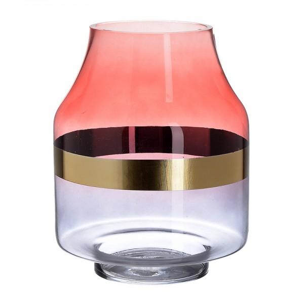 INART Γυάλινο Βάζο 19X19X25 εκ Golden, Red ΚΩΔΙΚΟΣ: 3-70-179-0001