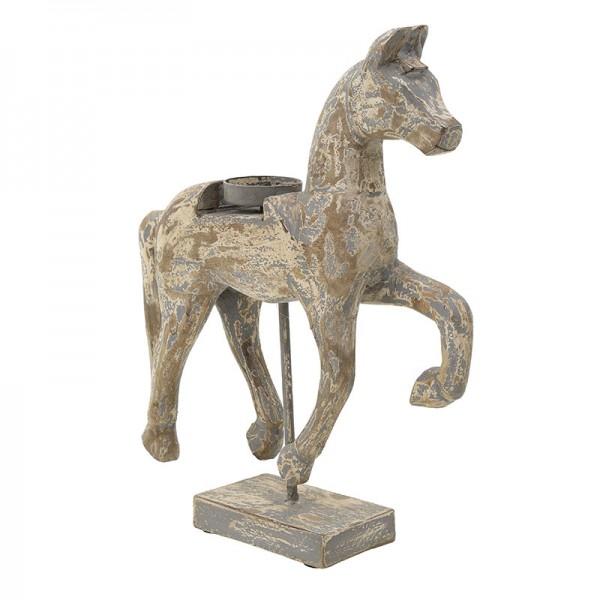 INART Άλογο Διακοσμητικό 35X10X46 εκ Brown ΚΩΔΙΚΟΣ: 3-70-189-0059
