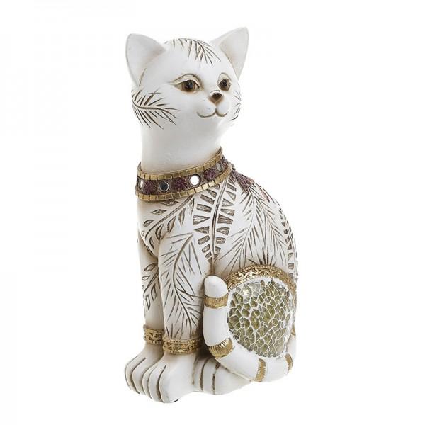 INART Διακοσμητική Γάτα 11X8X20 εκ White-Ivory, Golden ΚΩΔΙΚΟΣ: 3-70-547-0798