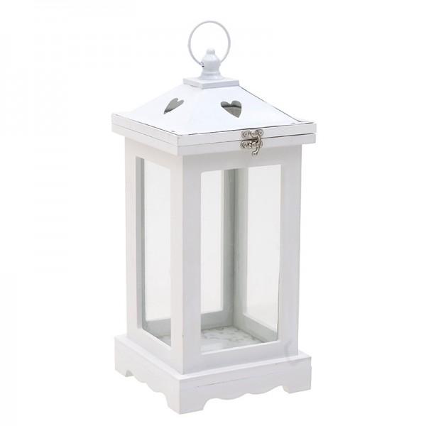 INART Ξύλινο Φανάρι 15X15X33 εκ White-Ivory ΚΩΔΙΚΟΣ: 3-70-739-0016