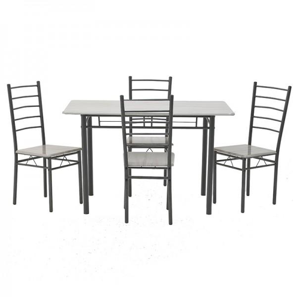 INART Σετ Τραπεζαρία Με 4 Καρέκλες 120X68X75 εκ  ΚΩΔΙΚΟΣ: 6-50-673-0003