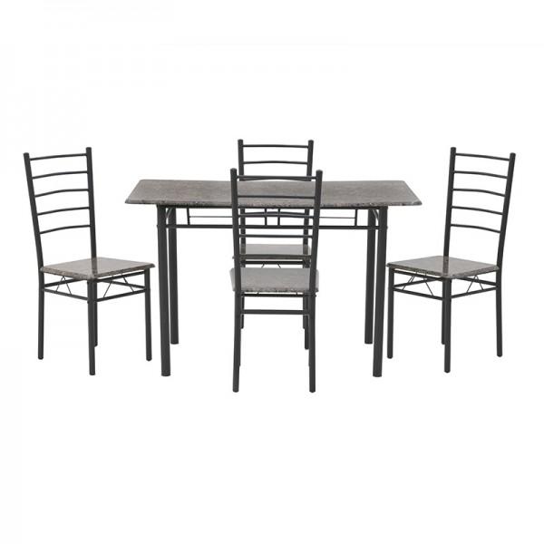 INART Σετ Τραπεζαρία Με 4 Καρέκλες 120X68X75 εκ  ΚΩΔΙΚΟΣ: 6-50-673-0004