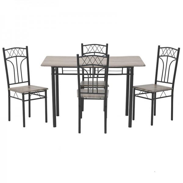 INART Σετ Τραπεζαρία Με 4 Καρέκλες 120X69X75 εκ  ΚΩΔΙΚΟΣ: 6-50-673-0005